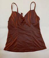 LOVABLE ORANGE shiny Camisole Top sleepwear nightwear size M cup B