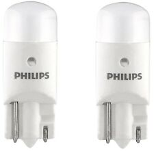 2x Philips 194 LED 6000k Bright White T10 Light bulbs 5050 W5W 2825 158 192 168