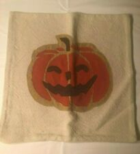 Pottery Barn Halloween Jack-O'-Lantern Applique Pillow Cover, New