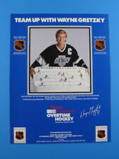 Wayne Gretzky's Kevin Sports NHL Overtime Table Hockey Game Promotional Sales Ad