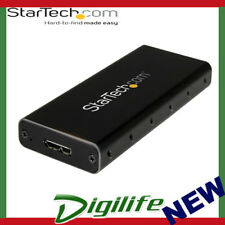 STARTECH M.2 NGFF SATA Enclosure - USB 3.1 (10Gbps) with USB C Cable - Portable