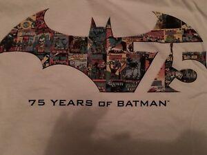 BATMAN 75th ANNIVERSARY PROMO SHIRT SIZE XL