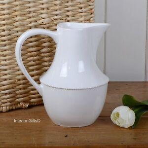CHINA JUG BONE WHITE PITCHER Flower Vase or Drinks table water kitchen serving