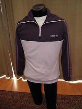 Adidas Originals Track Jacket Large L womens LD CB TWIST Black Purple White NWT