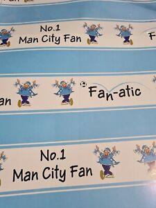 Gift Wrap 2 Sheets No 1 Man City Fan 50 x 70cm
