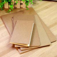 Kraft Paper Notebook Blank Notepad Book Vintage Journal Notebook 6 Sizes