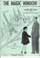 "LITTLE BOY LOST Sheet Music ""The Magic Window"" Bing Crosby Claude Dauphin"