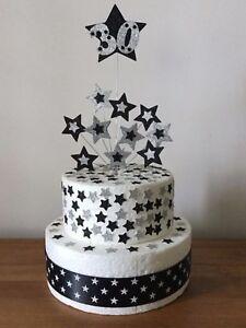 Cake Topper Birthday Star Bunch 1st 2nd 3rd 18th 21st 30th 40th 50th 60th