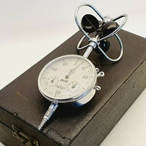 VINTAGE Wind Speed Gauge Air Velocity ANALOG Meter Anemometer Hungary 1940's