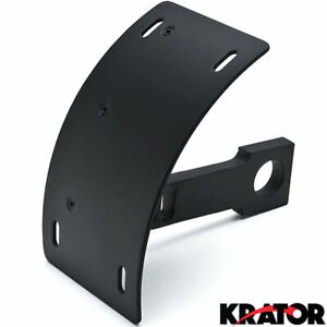 Black Vertical Axle Mounted Motorcycle License Plate Holder Sportbikes Cruisers
