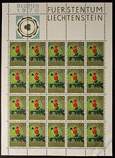 Sello LIECHTENSTEIN Stamp Yvert y Tellier nº473 x20 De Hecho De La Hoja N Y5