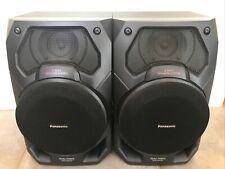2 Panasonic SB-AK17 Bookshelf Stereo System Speakers Bass Reflex Black 100 Watts