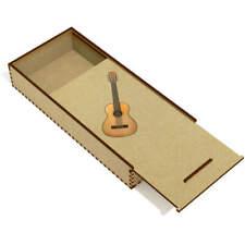 'Acoustic Guitar' Wooden Pencil Case / Slide Top Box (PC00019404)