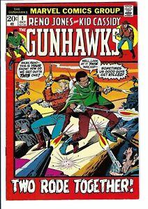 Gunhawks #1 VF-NM Marvel Bronze Age Western 1st Reno Jones (Black Gunslinger)