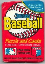 1988 Donruss Wax Pack Puzzle and Cards 3 Puzzle Pieces & 15 Cards.