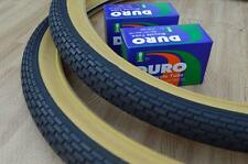 Two (2) Beach Cruiser 26x2.125 Bicycle Tires & Inner tubes Brick Gum Wall BMX