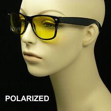 POLARIZED HD NIGHT DRIVING VISION  SUN GLASSES YELLOW  RETRO VINTAGE