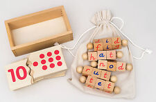 Reading Blocks & Numbers Jigsaw Puzzle - Montessori Materials Kids Learning Toys