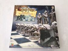 Harry Potter Wizard Chess 2002 Mantel Complete Set Game board Black White Piece