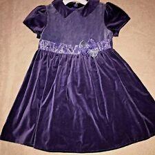 American Girl Child WINTER PARTY Dress Blue Velvet Size 6 Holiday EUC