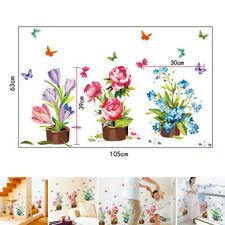 Wall Sticker DIY Flowers Removable PVC Decals Art Mural Home Room Decorations
