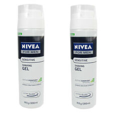 Nivea Shaving Gel Sensitive Active Comfort New Formula Men Boys Skin 200ml x2