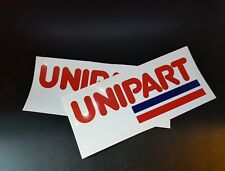 2 x Unipart Stickers Race & Rally Car Stickers. 140mm x 56mm