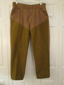 CHIEF Water Repellent Brush Field Hunting Brown Pants Men's size 37 x 28