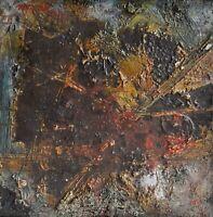 Huile sur toile - Composition signée NOVAK MARYAN XXème
