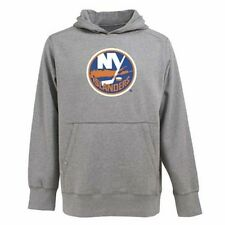 NWT Men's New York Islanders Signature Hood Applique Gray Pullover Sweatshirt XL