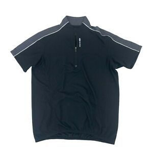 Sugoi Cycling Neo Jersey Mens Size S Black Short Sleeve Fitted Quick Dry 1/4 Zip