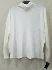 KAREN SCOTT Women's PLUS Size 3X Lightweight Turtleneck Sweater**Cream**Soft*NWT