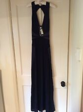 Just Cavalli Long Black Evening Dress NWT Size 42