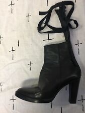 A.F.Vandevorst leather Boots high heels avant garde Antwerp added laces belts