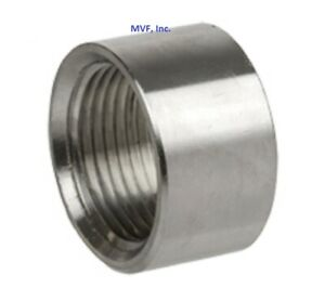 """3/4"""" 150# NPT Half Coupling 304 Stainless Pipe Fitting Weld Bung <SS090541304"""