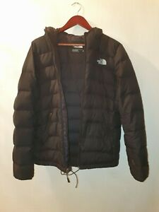The North Face Mens S Black Quilted Padded Puffer Jacket Coat Hooded Waterproof