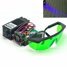 2W 445nm 450nm 12V Blue Laser Dot Diode Module 2000mW +Goggles To Carve Engrave