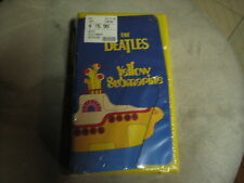 The Beatles Yellow Submarine SEALED VHS Tape Yellow Box