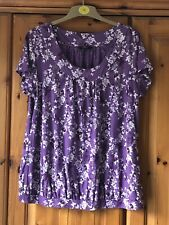 Debenhams Purple Floral Top Size 18