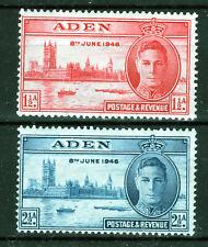 Aden 1946 War Victory set of 2 mmint [A2006]
