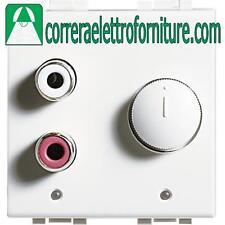 BTICINO N4560 LIVINGLIGHT bianco ingresso RCA 2 moduli