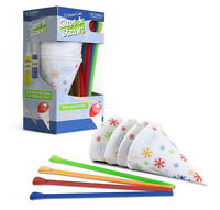 Victorio 25 Snow Cone Cups & 25 Spoon Straws for Homemade Snow Cones - Y707