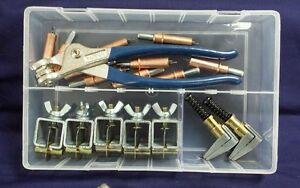"""Cleco & intergrip Temporary Fastening Kit- 1/8"""" clecos pliers & edge grips"""