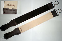 TWO PACK! Barber Leather Strop Straight Razor Sharpening Shave Shaving Strap