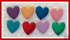24 HEART SHAPED BRADS for Cards + Scrapbooking NEW Bulk