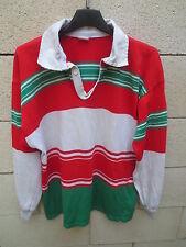 VINTAGE Maillot rugby porté n°6 Sélection PAYS BASQUE shirt jersey années 80 M L