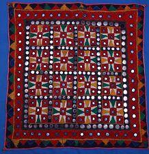"""Beautiful Antique/Vintage Indian Rajastan Banjara 26"""" Embroidered Mirrors Square"""