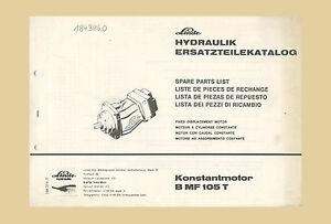 Linde Konstantmotor B MF105 T  Ersatzteilliste  Claas  Ersatzteilkatalog