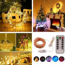 50/100/200 LEDs String Fairy Light Christmas Party Garden Curtain Decor USB Plug