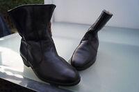 SPIESS Damen Winter Schuhe Stiefel Boots gefüttert Gr.7,5 41 schwarz Leder TOP*2